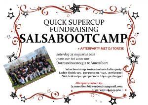 Salsa bootcamp bij Quick als fundraising voor de Europacup herensoftbal